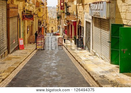 Treet Scene In Valletta