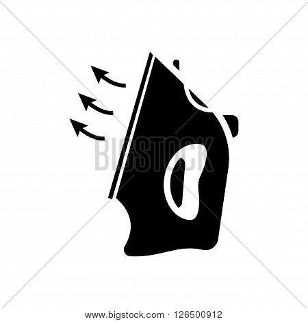 Iron icon in flat style. Vector illustration. Vector symbols.
