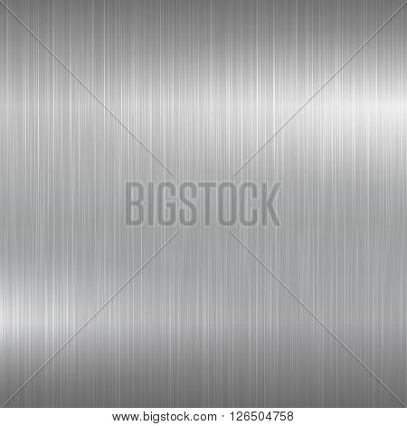 Bright metal background. Metallic brushed surface for your design.