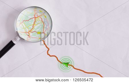Concept Travel Route To A Destination