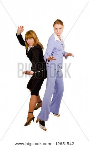 "kung foo business ladies  - See similar images of this ""Gorgeous shopping women"" series in my portfolio"