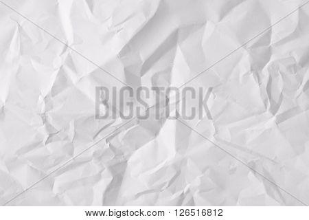 Texture Sheet Of Crumpled Paper