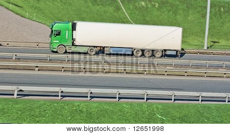 a truck on a highway  - See similar images of this