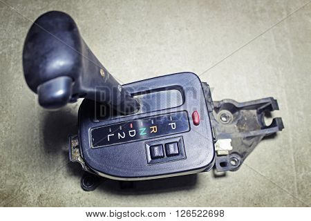 Selector lever - of the automatic transmission poster