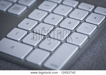 Close Up Of Numbers On Computer Keyboard
