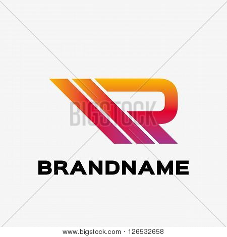 Abstract letter R logo. Abstract business logo design template. Logo template editable for your business.