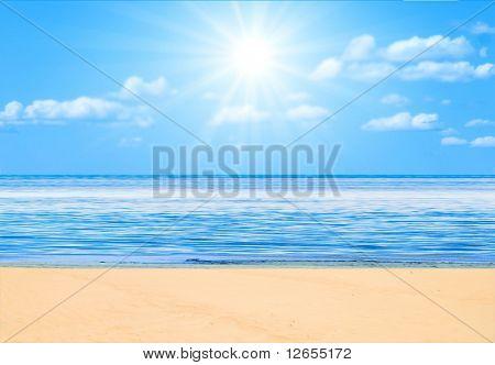 beach under sun -  of