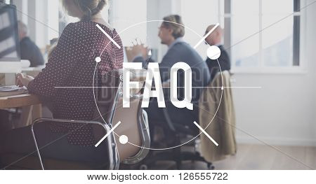 FAQ Question Information Frequently Asked Question Concept