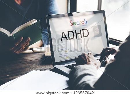 Attention Deficit Disorder Hyperactivity Concept