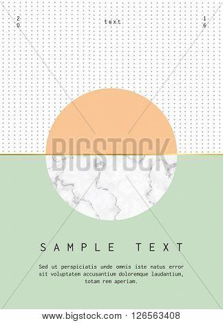 Modern design for invitation, business card, poster or banner