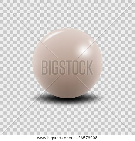 Pink peal vector illustration. Vector pearl. Luxury pink perl isolated on transparent background. Realistic 3D pearl.