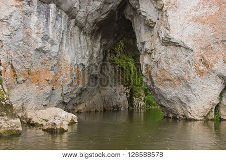 Stone With A Cave On The River, Sverdlovsk Area