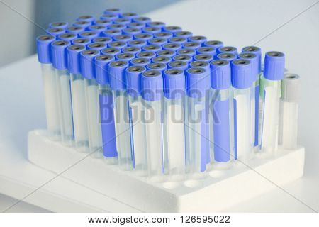 The image of an insert blood tubes