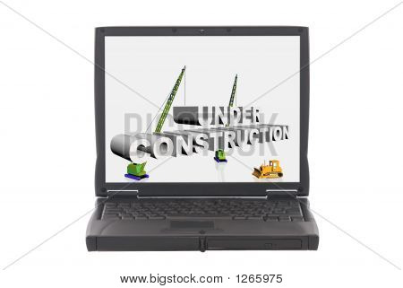 Under Construction On Laptop Screen
