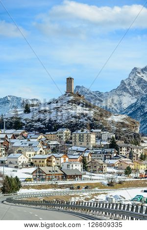 The village of Brölet in the Engadine Switzerland.