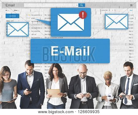 Email Inbox Electronic Communication Graphics Concept