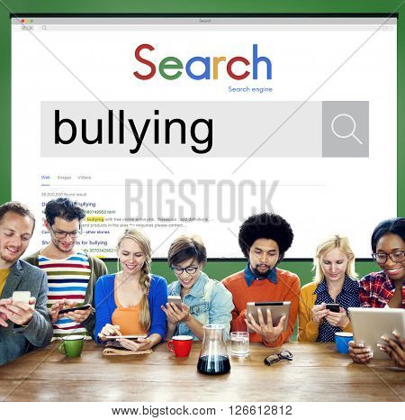 Bullying Force Totment Tyrannise Scare Oppression Concept poster