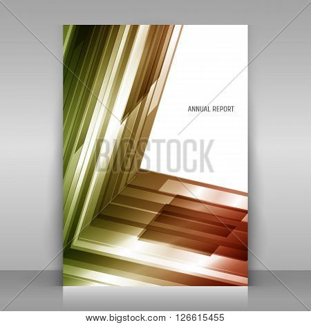 Poster on gray background. With abstract geometric design. Asymmetry. Vector template.