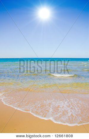 Sunny beach of forever