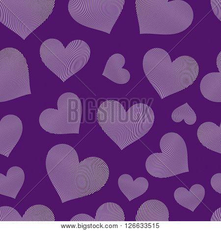 Valentine day vector conceptual art backdrop loving hearts. Love theme seamless background beautiful valentine.