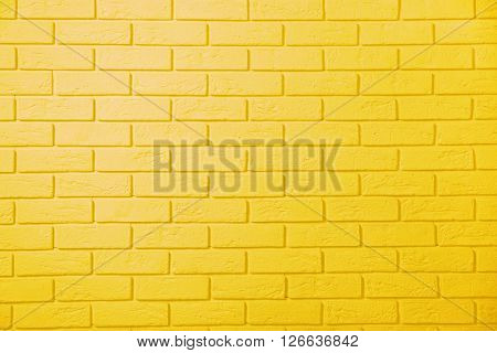 Yellow brick wall background