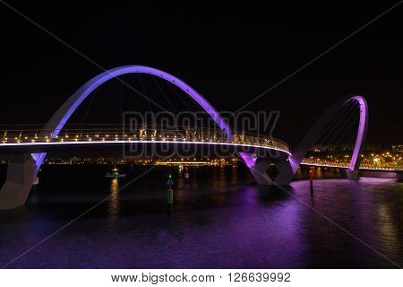 Elizabeth Bridge across the Swan River in Perth Australia