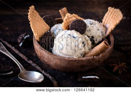 Ice Cream Cookies In Bowl