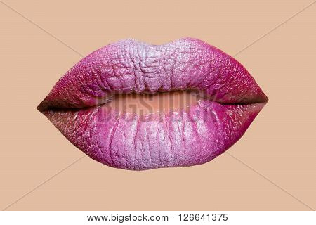 Pink Female Lips