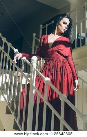Pretty Woman In Red Dress