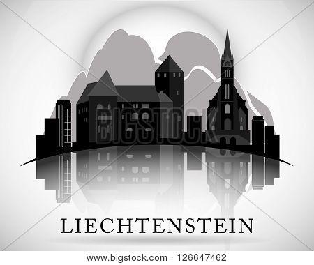 Modern Liechtenstein Skyline Design. Detailed vector illustration.