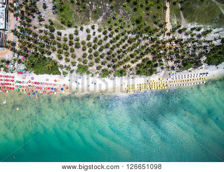 Top View of Muro Alto Beach, Pernambuco, Brazil