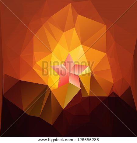 rectilinear Mosaic background vector illustration template design with a star in honour on may 9