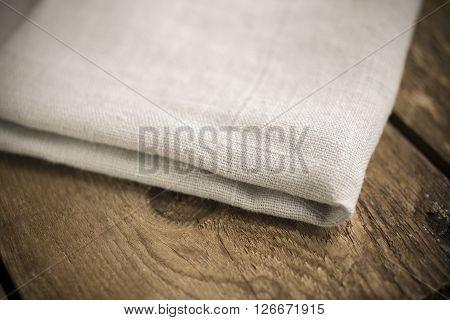Folded Ecru Cotton Fabric Or Linen