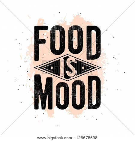 Vintage food related typographic quote. Retro style