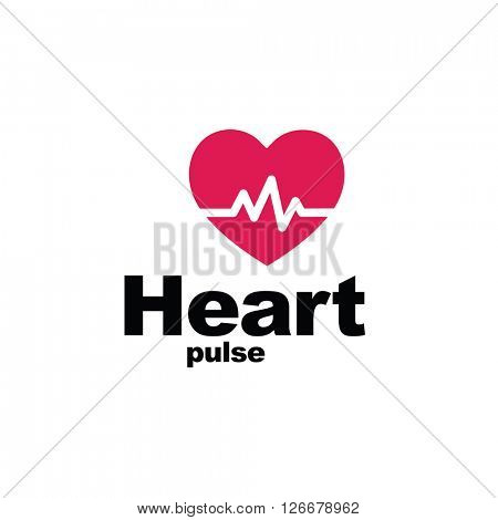 Heart beat - symbol - design element