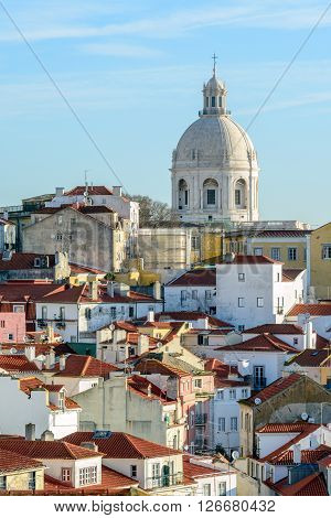 Lisbon, Portugal - February 01, 2016: The Church of Santa Engrácia is a 17th-century monument in Lisbon Portugal.
