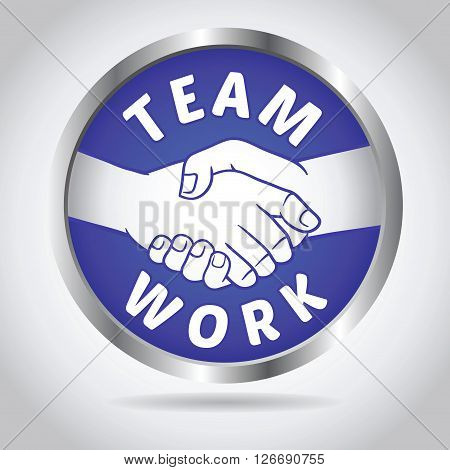 Vector stock of team work with hand shake icon