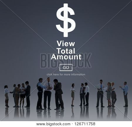 View Total Amount Accountant Balance Record Concept