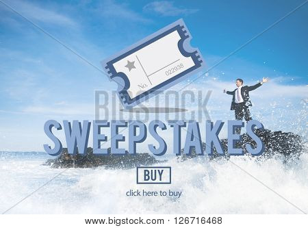 Sweepstakes Chance Betting Gambling Lottery Win Concept poster