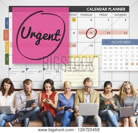 Urgent Prioritize Urgency Planner Concept poster