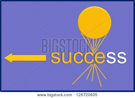Success    The painting depicts the foundation and the end result is the success, that are needed in all cases.