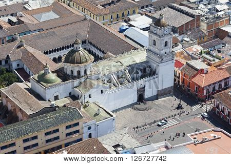 Merced church in the colonial or historical center of Quito
