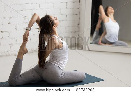 Yoga Indoors: One-legged King Pigeon Pose