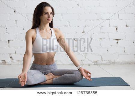 Yoga Indoors: Sukhasana Pose