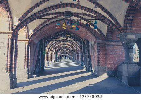 Many Colorful Shoes Hanging On Bridge In Berlin, Kreuzberg
