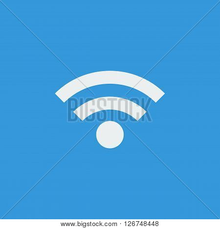 Wifi Icon In Vector Format. Premium Quality Wifi Symbol. Web Graphic Wifi Sign On Blue Background.