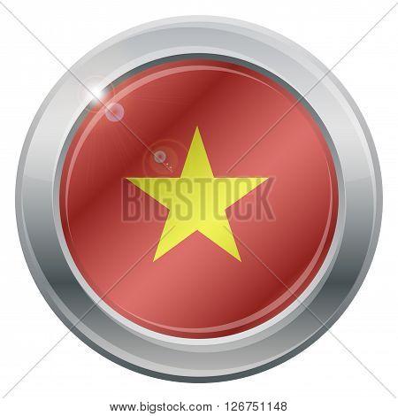Vietnam Flag Silver Icon