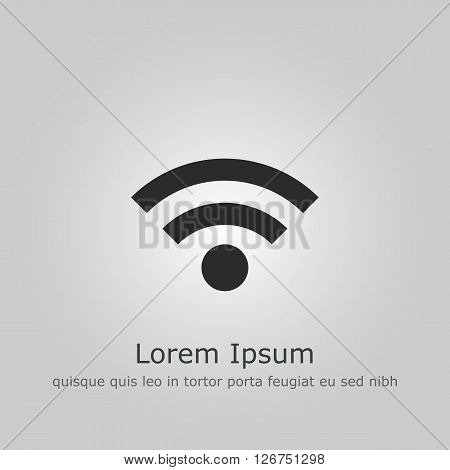 Wifi Icon In Vector Format. Premium Quality Wifi Symbol. Web Graphic Wifi Sign On Grey Background.