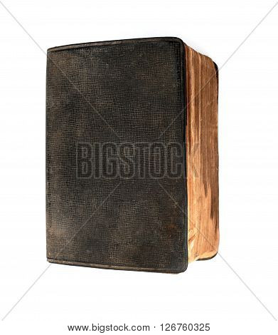 Vintage grunge book isolated at white background