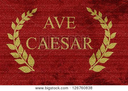 ave caesar roman empire with some soft smooth lines poster
